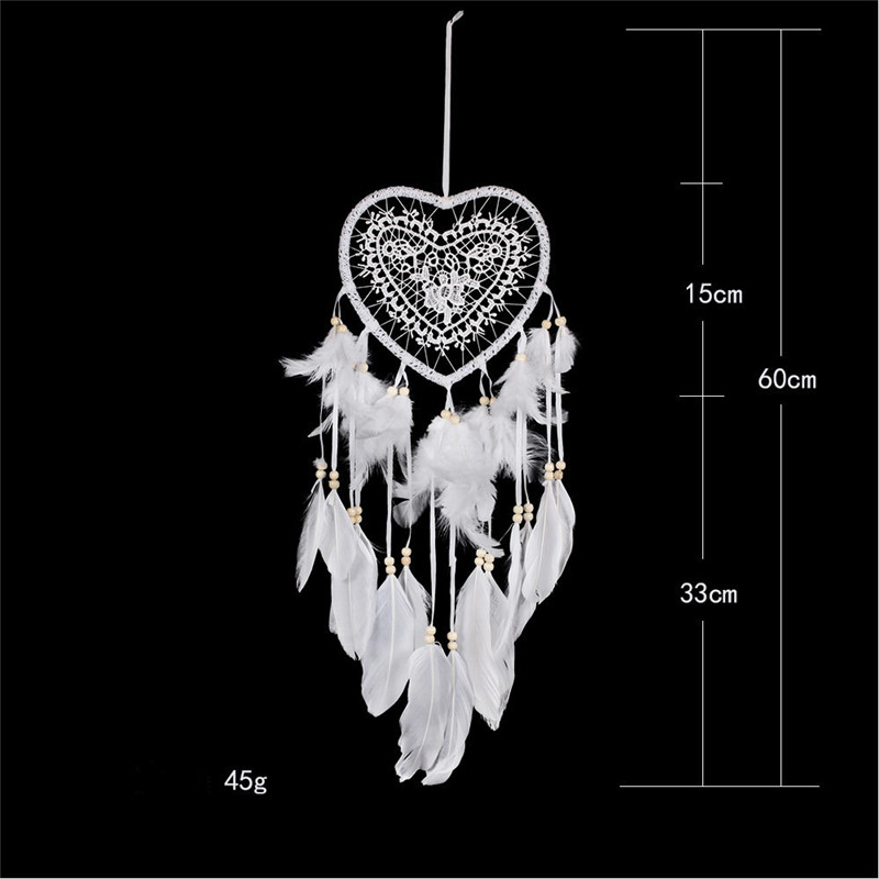 Creative hollow love dream catcher home garden ornaments Nordic wedding Christmas chime wind
