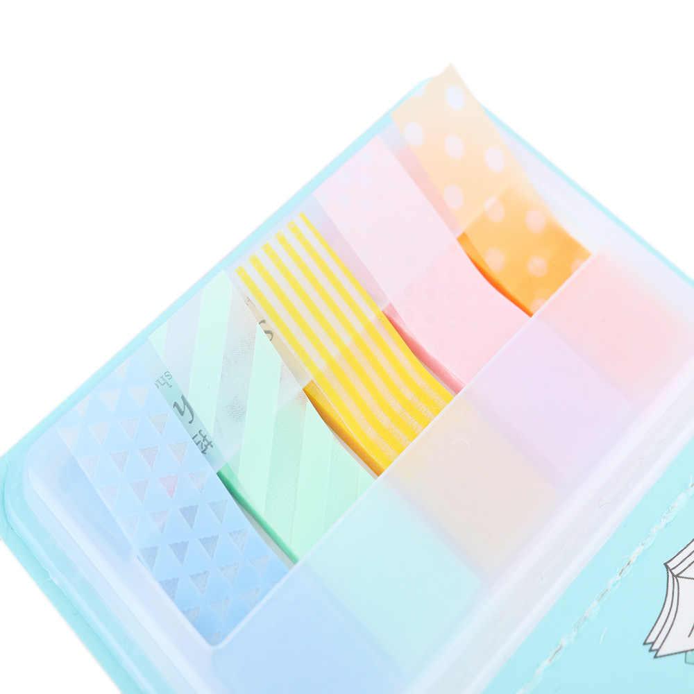 Suministros escolares notas Bloc de notas pegatinas de Paster caramelo Kawaii marcadores de colores página del cuaderno índice bandera pegajosa al por mayor