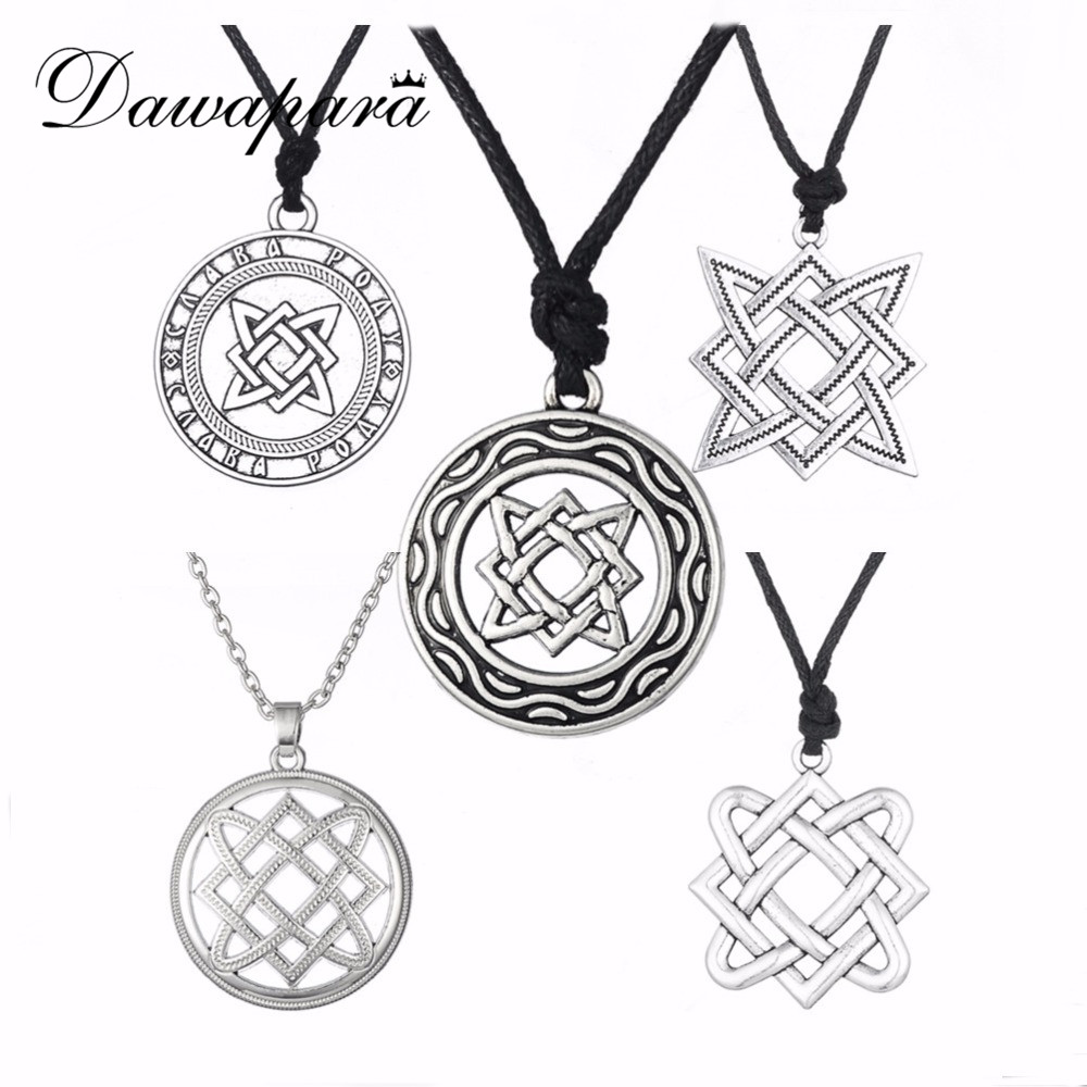 Dwapara Kolovrat Goth Jewerly Star of Ryssland Lada-Virgin Amulet Gothic Slavic Pendant Men Women Minimalist Slavic Necklace