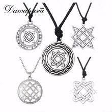 Dawapara Kolovrat Goth Jewerly Star of Russia Lada-Virgin Amulet Gothic Slavic Pendant Men Women Minimalist Slavic Necklace