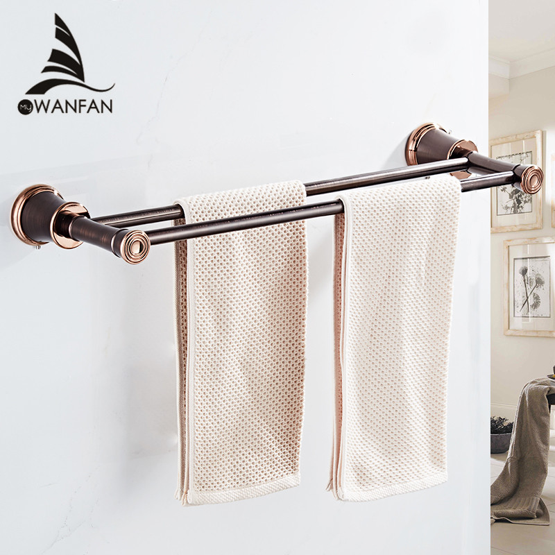 Towel Bars Bathroom Accessories ORB Wall Mounted Toilet Holder for towels Double Towel Holder Bathroom Hardware Home Decor 5511Towel Bars Bathroom Accessories ORB Wall Mounted Toilet Holder for towels Double Towel Holder Bathroom Hardware Home Decor 5511