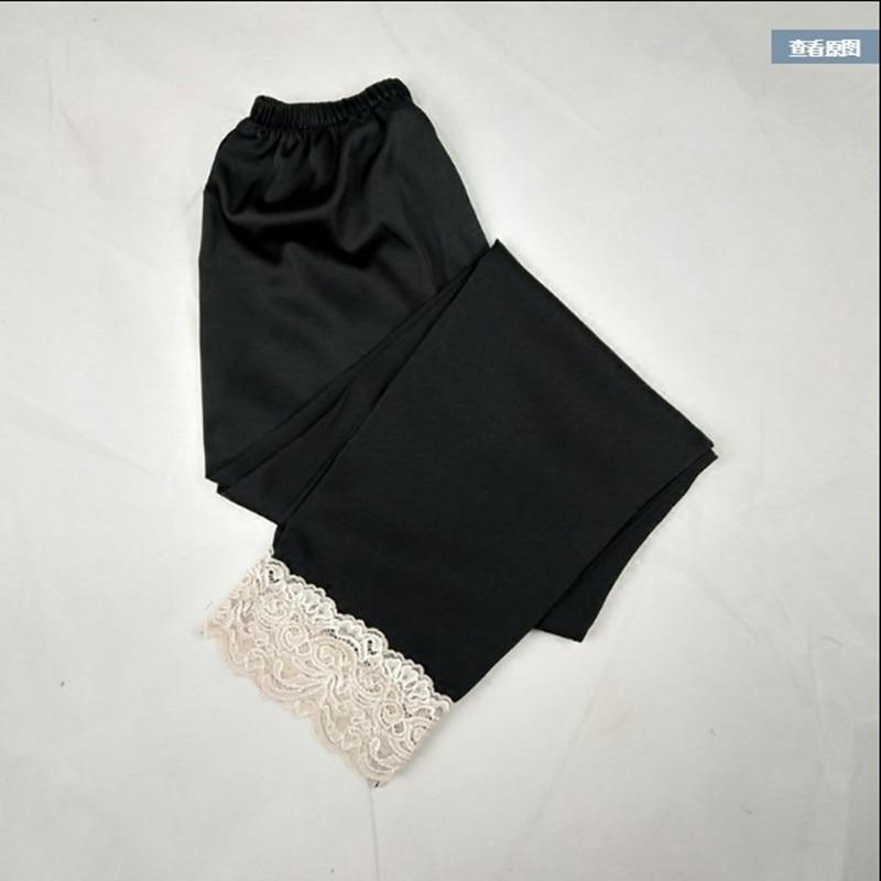 Женские шелковые брюки для сна, летние брюки для сна