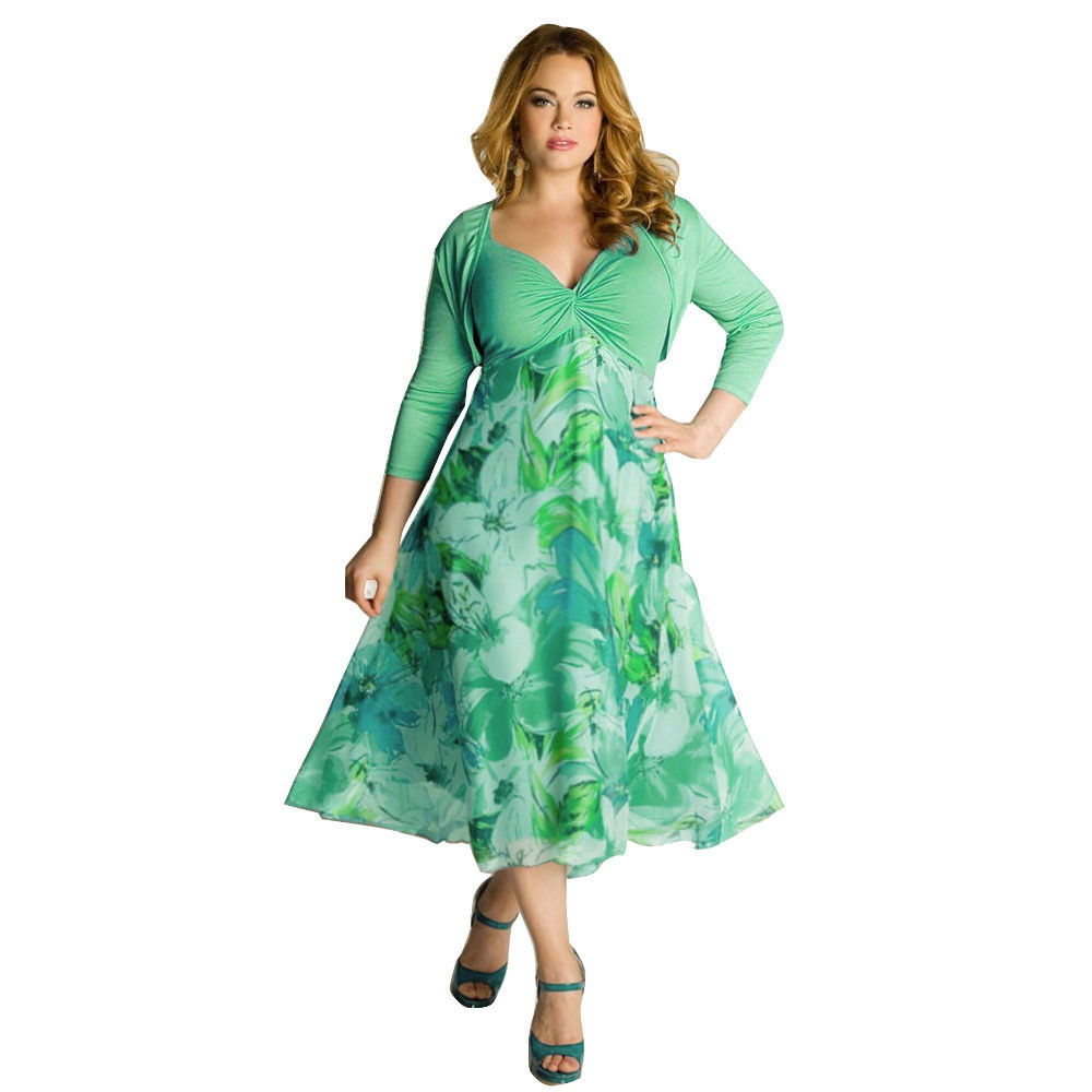 Plus Size Women Summer Dress Women Floral Boho Maxi Dress Party Casual Beach Dress Girl Clothes Womens