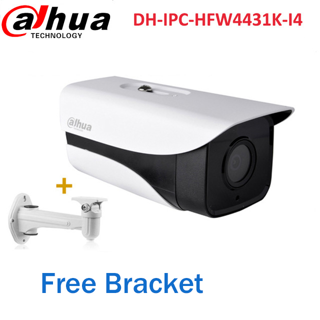 Dahua DH-IPC-HFW4431K-I4 4MP PoE IP Camera 50M IR Bullet Security CCTV Network Camera free bracket IPC-HFW4431K-I4