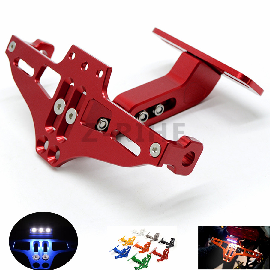 for  Universal Fender Eliminator License Plate Bracket Ho Tidy Tail motorcycle accessories  for Triumph Tiger 800/XC,Rocket III/ for suzuki gsx r600 k6 motorcycle fender eliminator license plate bracket tail tidy tag rear for suzuki gsxr750 k6 2006 2007