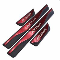 For Auto Styling Accessories Hyundai Kona Door Sill Strip Stainless Steel Sticker Trim Car pedal Protectors Cover 2017 2019 2020