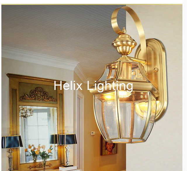 Free shipping antique brass wall lamp outdoor design crystal wall free shipping antique brass wall lamp outdoor design crystal wall sconce brass color wall lighting lamp workwithnaturefo