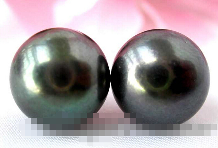 Livraison gratuite 12789 rond noir d'eau douce perle stud