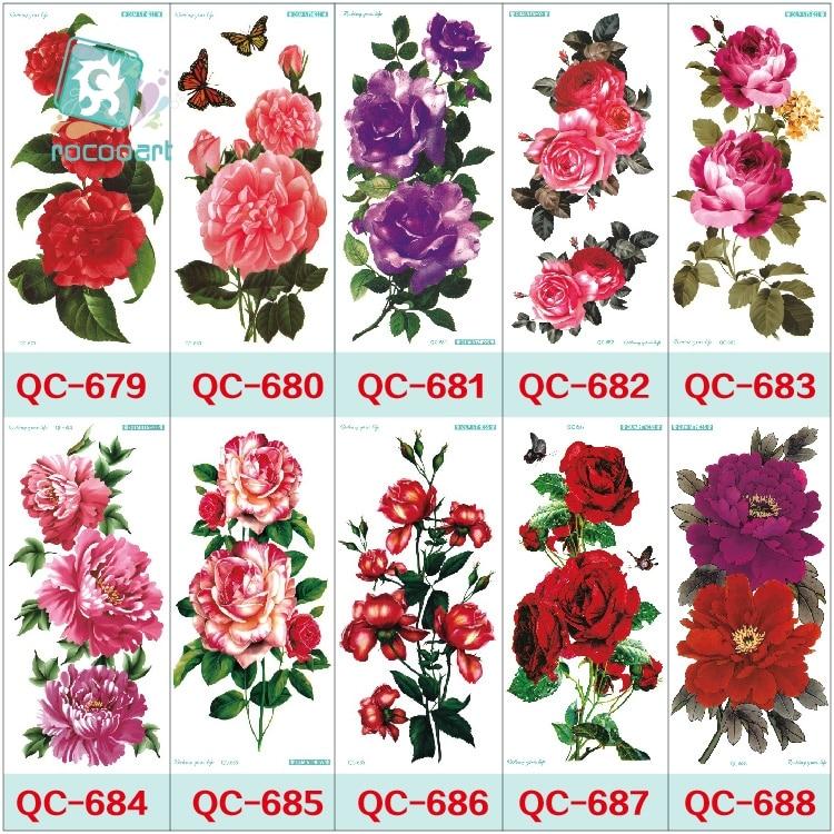 QC678-698 20X10 cm frauen make-up tatuajes tattoo ärmel Body Art - Tattoo und Körperkunst