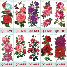 QC678-698 20X10cm women makeup tatuajes tattoo sleeves Body Art pomegranate Flowers Temporary Flash Tatoos Sticker tatuagem
