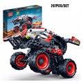 207PCS Technic Warrior Decert Racer Pull Back Car Vehicle Model Building Blocks Bricks Educational Toys For Kids Xmas Gift