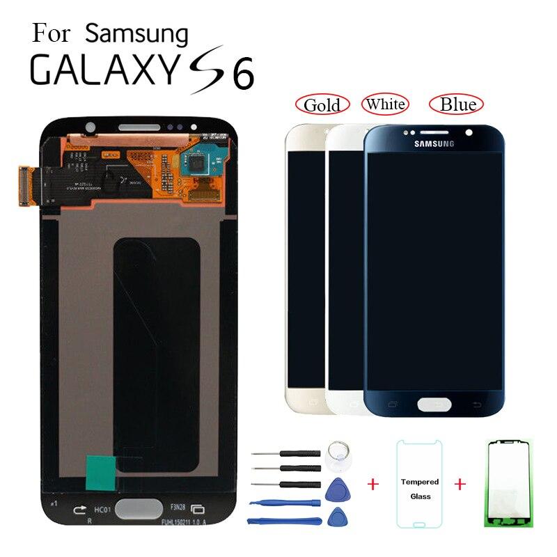 AMOLED lcd pour Samsung Galaxy S6 G920F G9200 module d'affichage écran pour Samsung G920FD G920 G920W8 écran lcd remplacement de l'écran