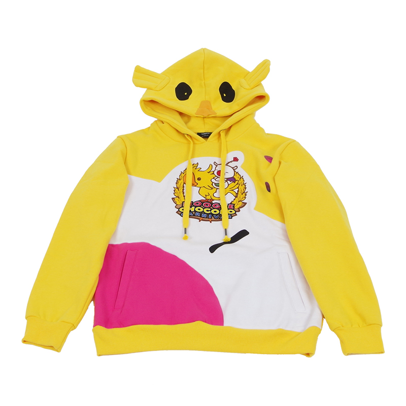 US $37.82 3% OFF|Choco Mog hoodies Final Fantasy XV Noctis Moogle Chocobo Coat Cosplay Costume Yellow Carnival Pullover Sweatshirt|Anime Costumes|