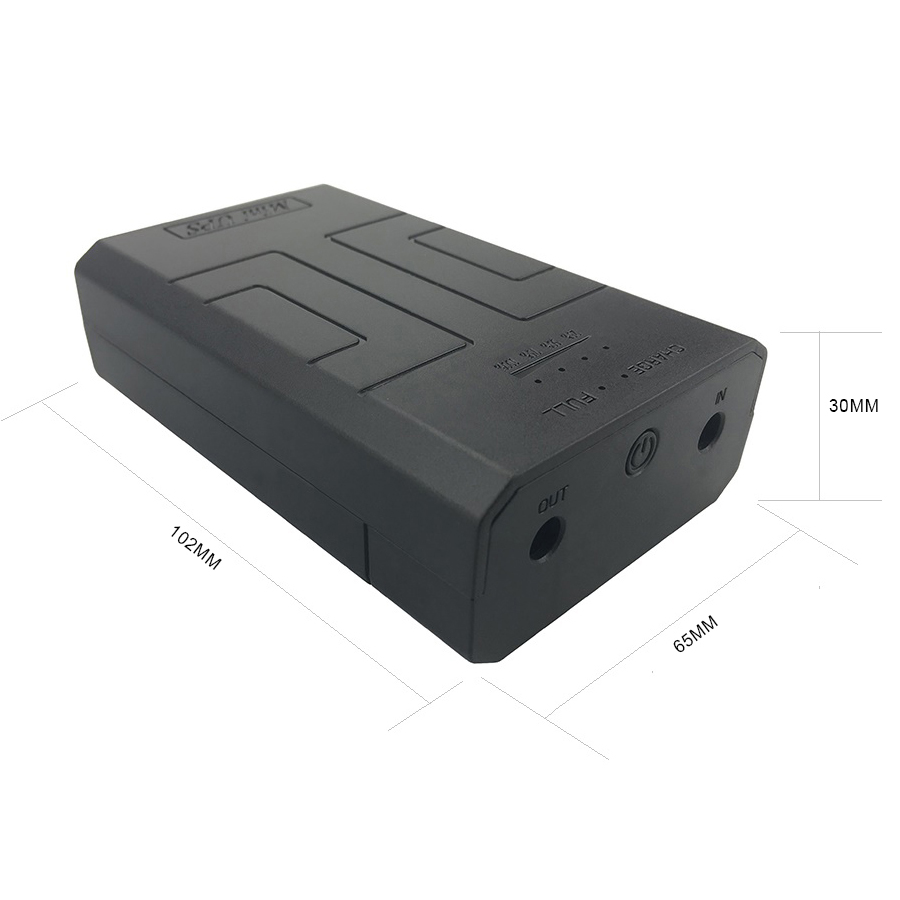 12V2A AC to DC Mini Adapter Uninterrupted Power Supply UPS Provide Emergency Power Backup to CCTV Camera with Battery Built-in