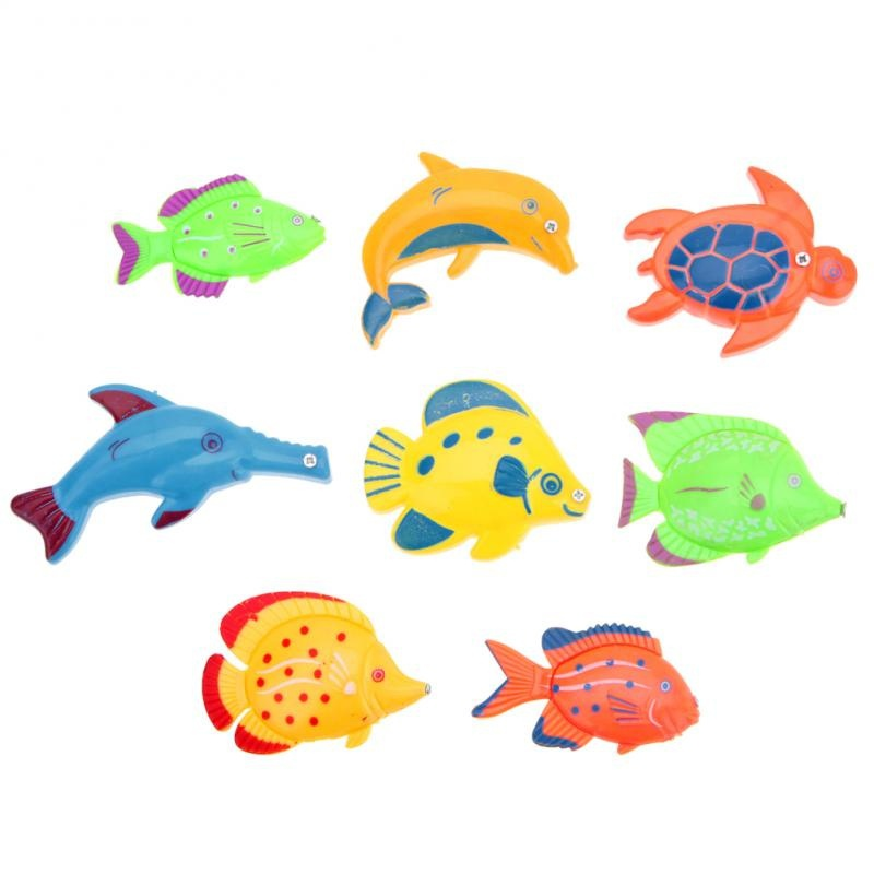 Hot-Sell-Magnetic-1-Rod-8-Fish-Catch-Hook-Pull-Baby-Children-Bath-Fishing-Game-Set-Outdoor-Fun-Toys-Fishing-Toys-FL-3