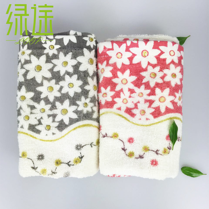 Colorful face cloth high quality face hand towel quick dry christmas towels gift home use fabric towel free shipping pink floral towels