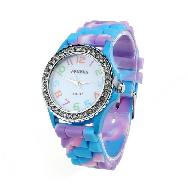 Watch 2017 relogio masculino Women Silicone Crystal Analog Digital Quartz Wrist Watch Gift Dropship 17JUL4 super speed v0169 fashionable silicone band men s quartz analog wrist watch blue 1 x lr626