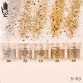 Nail 1 Jar/Box 10ml Champagne Silver Gold Mixed Glitter Powder Sequins Powder For Gel Nail Art Decoration 5-03