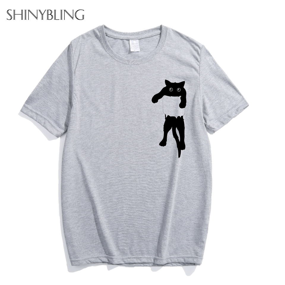 18488b59 Shinybling Summer Funny Pocket Shirt Design T Shirt Women Unisex Animal  Graphic Print Tees Tops S/4XL Plus Size Hipster TShirt