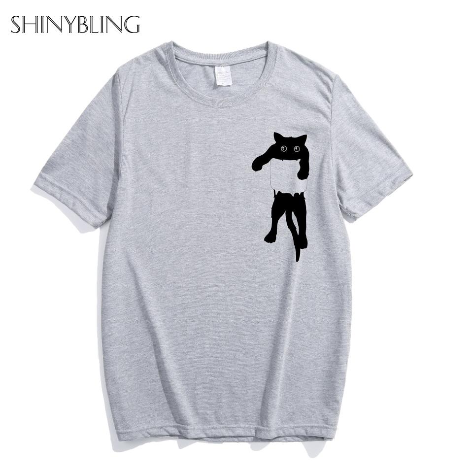 460246d0 Shinybling Summer Funny Pocket Shirt Design T Shirt Women Unisex Animal  Graphic Print Tees Tops S/4XL Plus Size Hipster TShirt