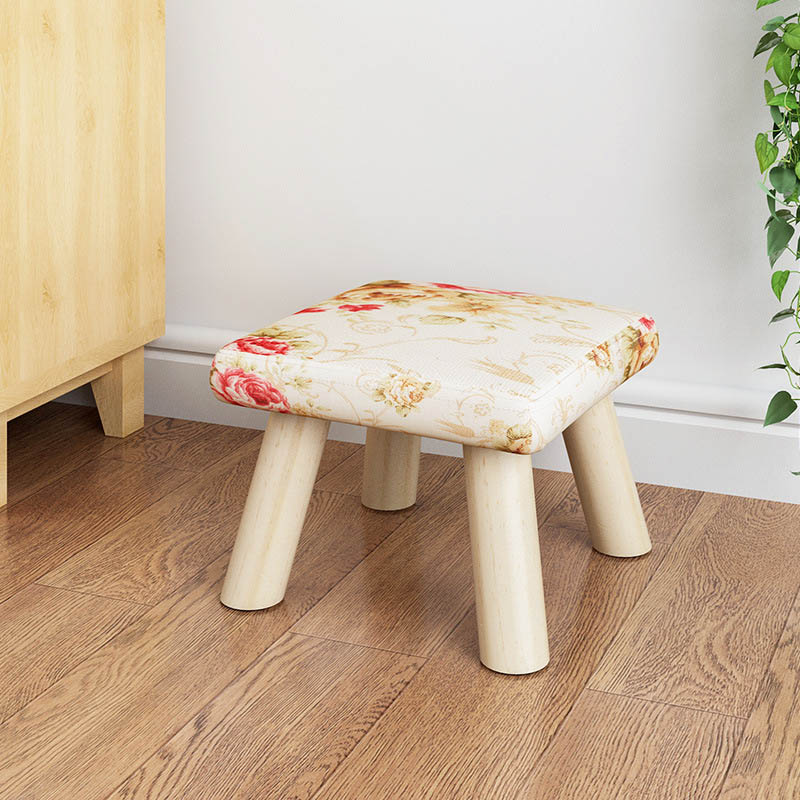 Image 4 - Fashion Children's furniture seat stool Ottomans Wooden cloth Doorway Change shoes Small chair Table side kids Children's Stools-in Children Stools from Furniture