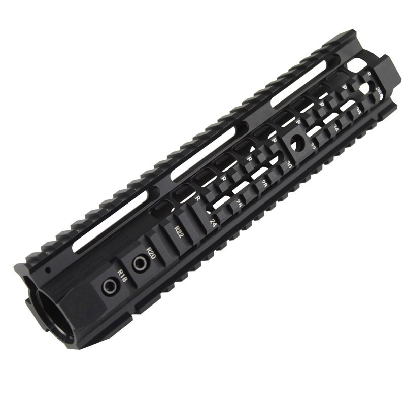 High quality Picatinny rail 10 inch handguard rail system BK DE For Airsoft AEG M4 M16