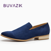 2016 Men Casual Shoes Velvet Loafers Suede Soft Leather Flats Pointed Toe Loafer Shoes Footwear