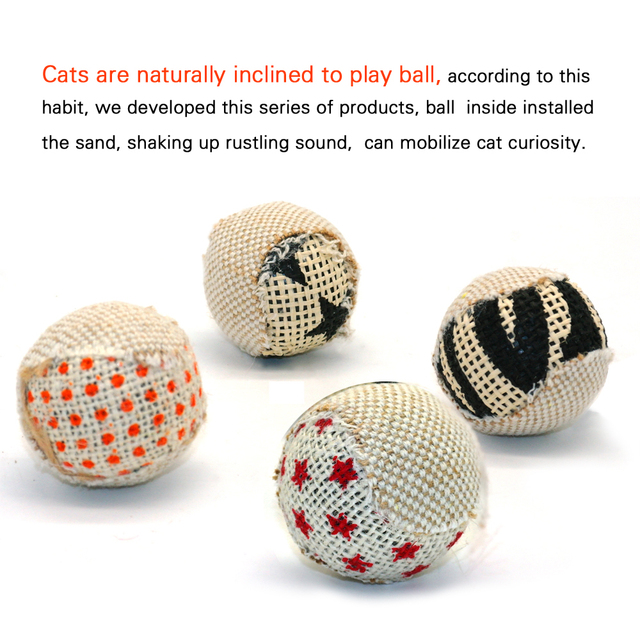 4pcs/pack Ball Cat Toy 2
