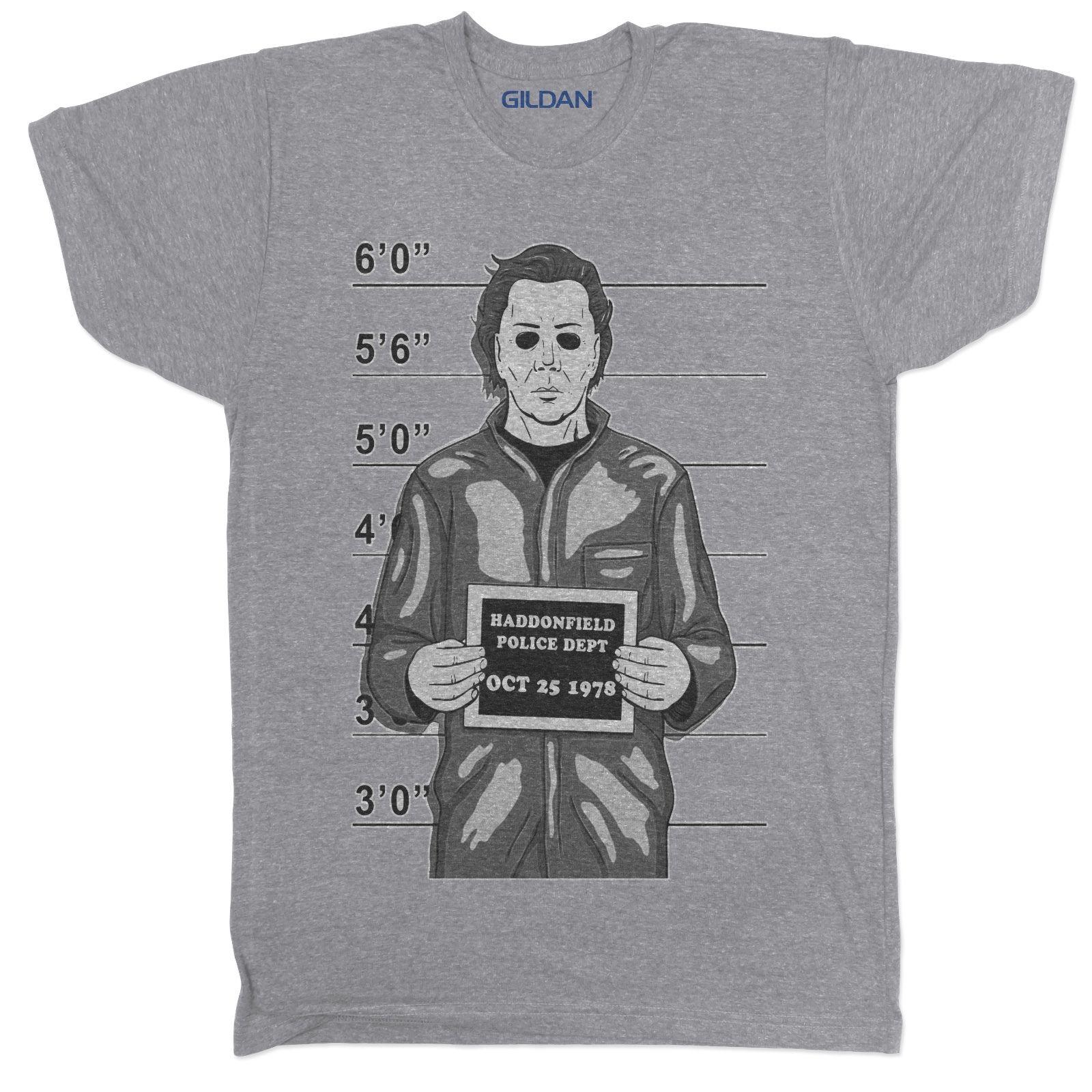 2018 Summer Men Tee Shirt MICHAEL MYERS HALLOWEEN HORROR MOVIE FILM 90S RETRO CLASSIC GREY T SHIRT Custom Made T-shirt