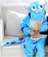 Children Winter Flannel Baby Boy Girls Cute Tiger Sullivan Cartoon Onesies Kids Pajamas Pijamas Cosplay Hoodies