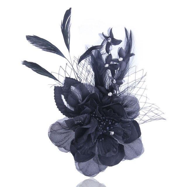 Классический для женщин брошь высокое качество ткань шпильки цветок броши элегантные аксессуары для волос шляпа цветок для Леди Вечерние Партии Шоу Украшения
