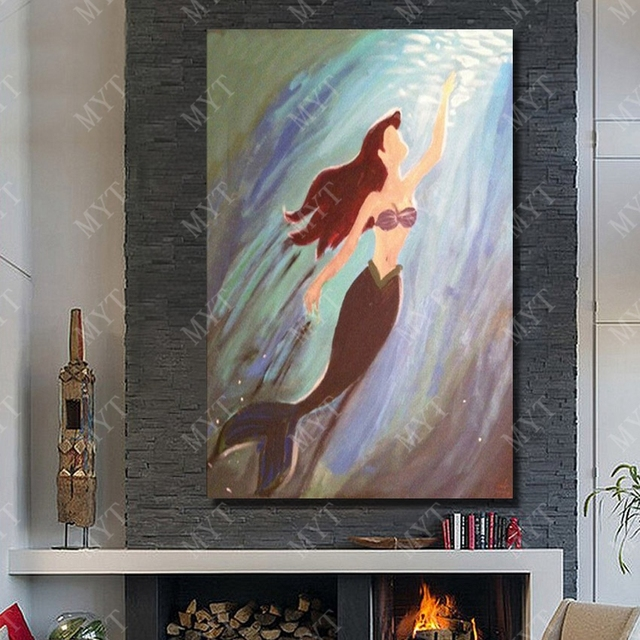 Mermaid picture hot sexi nude body girl full open pictures hand painted 100 acrylic painting palette