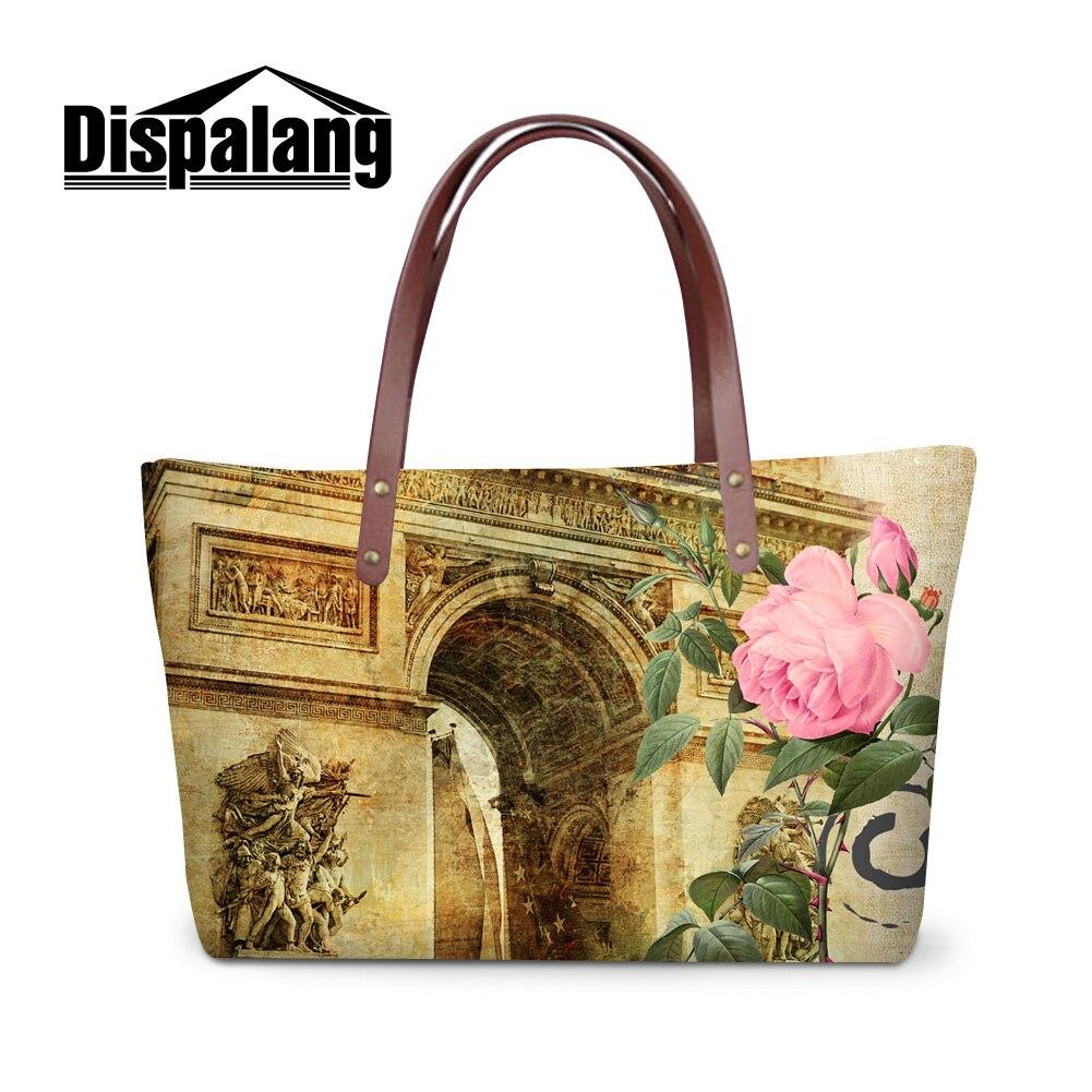 ... Dispalang charming landscape print totes bags for women Paris Triumphal  Arch pattern lady summer beach bags ... a60b65d6bd083