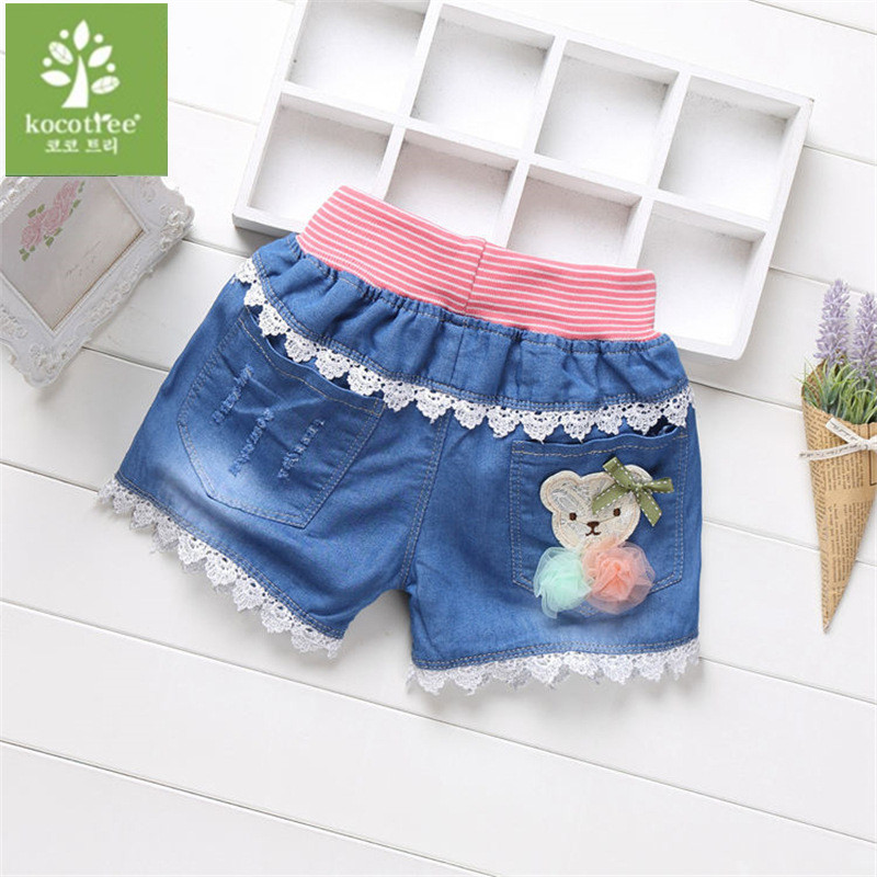 2018 summer fashion children denim shorts sand kids shorts for girls casual jeans shorts KD01 summer women fashion high waist embroidery flower denim tassel jeans shorts female floral shorts jeans for women dx8299