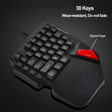 Gaming Keyboard K108 Mechanical One-Handed Keyboard For PUBG Mobile Game Left Hand Small Keyboard Dropship