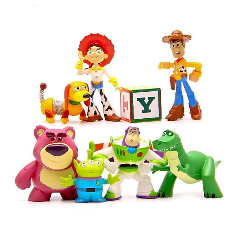 Toy Story Action Figures Set : Pcs set toy story mini figures buzz lightyear woody