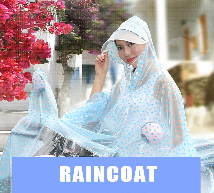 3pcs detachable Double brim mask motorcycle electric raincoat raincoat cute poncho rainny tools wholesale