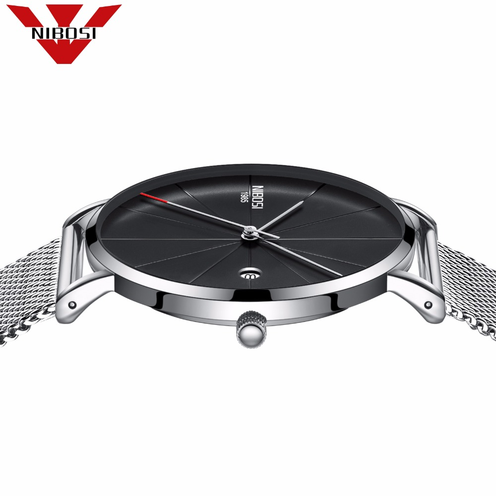 NIBOSI Watch Men Fashion Quartz Clock Mens Watches Top Brand Luxury Ultra-thin Army Military Sport Wrist Watch Relogio Masculino woonun top brand luxury gold watches men classic man clock rhinestone crystal quartz wrist watches for men thin mens watches