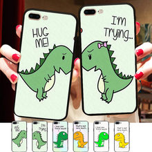 Funny Dinosaurs Silicone Phone Case Cover Iphone X 8 5 5s Xr Max 6 6s 7 Plus Friends Bff Capinha