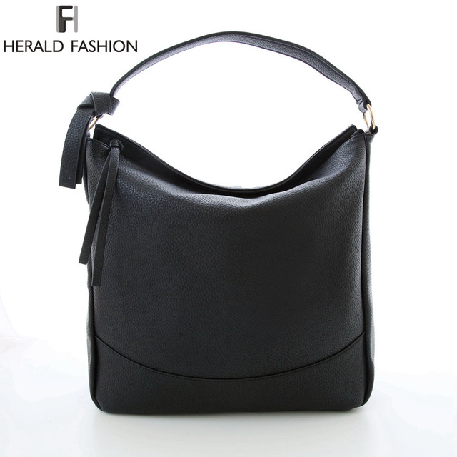a9bc2d0d90 Herald Brand Ladies Tassel Hobo Bags Women Shoulder Bags PU Leather Woman  Bags Vintage Casual Women Bags Hobo Handbags Bolsas