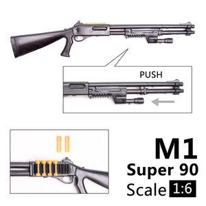 Image 4 - 1:6 1/6 בקנה מידה 12 inch אבזר בנלי M1 סופר 90 חייל חלקי דגם רובים להשתמש עבור 1/100 MG bandai Gundam מתנה