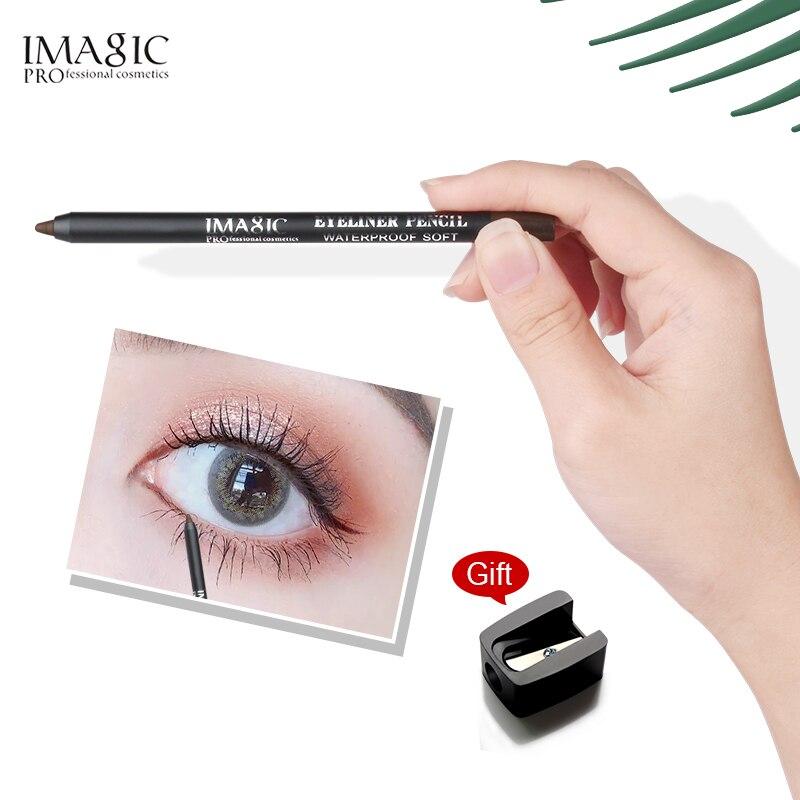 IMAGIC Black Eyeliner Gel Pencil Long Lasting Waterproof  Eye Liner Pen Cosmetic Beauty Makeup Set Pen+Pencil Sharpener