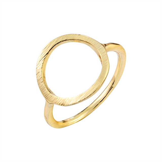 Simple Anel Masculino Rose Gold Color Circle Rings For Women Gifts Wedding Jewel