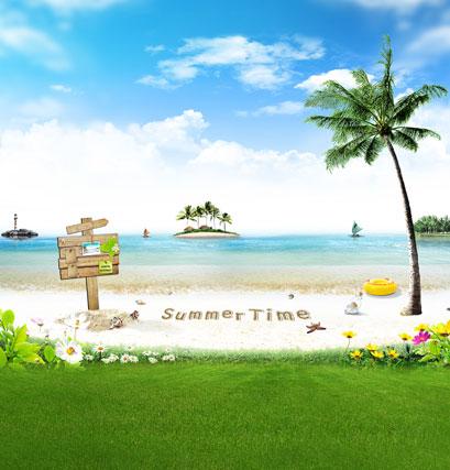 Allenjoy 10*20feet(300*600CM) photography background fotografia photo background Summer beach grass photography backdrops