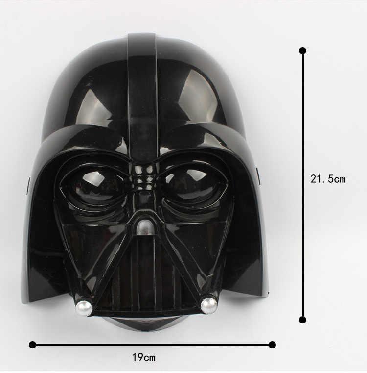 Lampu LED Helm Halloween dan Natal PV Darth Vader Masker Kerajaan Clone Tentara Bercahaya Topeng Star Wars Mask