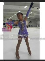 kids ice skating dress custom figure skating dresses for competition purple clothing to figure child free shipping