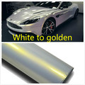 50CM *152CM Car change color film Car film White to golden Vinyl Wrap With Air Bubble Free PearlescentBright white car film