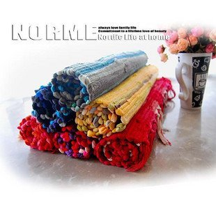 Color of the rag rug \ cotton carpet \ IKEA doormat \ cotton carpet \ mats \ 50 * 80cm
