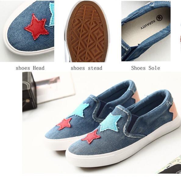 chaudes Denim Automne Ventes Élégant Chaussures Dame Star plates confortable  New qwHwIdC a9d08a16820