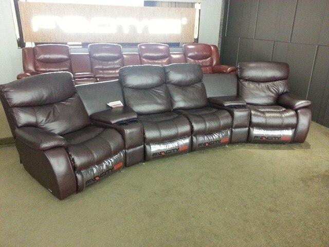 Sofa 4 Sitzer Leder wohnzimmer sofa liege sofa kuh echtes leder recliner sofa echt